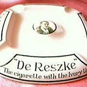 Vintage De Reske Cigarettes Advertising Ashtray