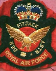 RAF Fitjack Red Astra Cloth Badge