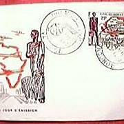 Vintage Air Afrique First Flight Stamp Cover Cameroun 1962
