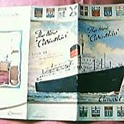 "Cunard Advertising Brochure ""The New Carinthia"""
