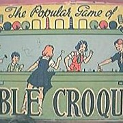 "Vintage Children's Game "" Table Croquet"" Circa 1940's"