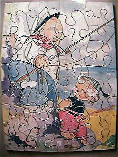 Vintage Children's Wooden Jig Saw Puzzle Circa 1930's-40's