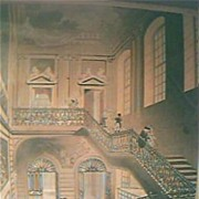 "Antique 1808 Engraving ""British Museum, The Hall & Staircase"""