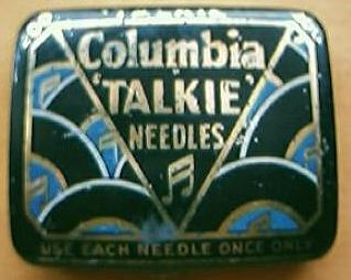 "Vintage Columbia ""TALKIE"" Gramophone Needles Tin"