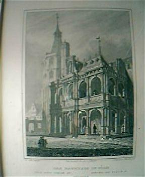 "Vintage German Engraving ""Das Rathaus In Coln"" Circa Mid 1800's"