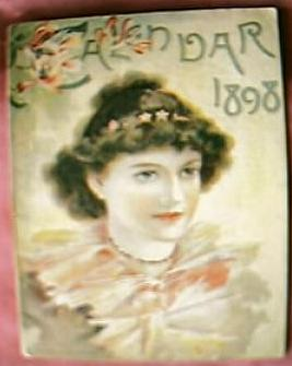 Lovely Little Victorian Calendar Booklet for 1898