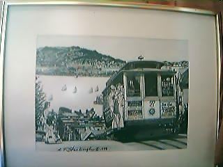 Signed Charcoal Print of  San Francisco 1979