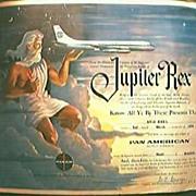 "PAN AM Airlines Vintage 1959 "" Jupiter Rex"" Equator Crossing Certificate."