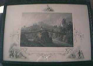"Antique American Engraving "" Headwaters of The Juniata Alleghany Mountains, Pennsylvania"" Circa Early - Mid 1800"