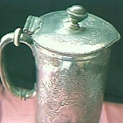 Edwardian Pewter Jug 1905