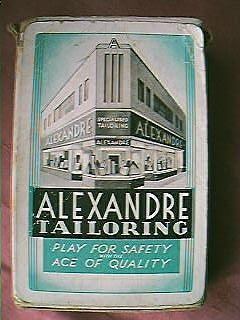Advertising Playing Cards ALEXANDRE TAILORS
