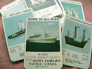"""Ships of The Ages """"Happy Families"""" Playing Cards 1960's"""