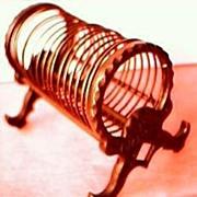 """Antique  Cast Iron Letter Rack  """"K DIAMOND"""""""