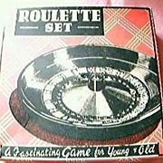 Boxed Bakelite Roulette wheel Set Circa 1950's