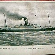 R.M.S. Victorian Shipping Postcard