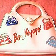 Vintage Airlines Advertising Vanity Kit Purse
