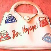 Vintage Airlines Advertising Vanity Kit Purse