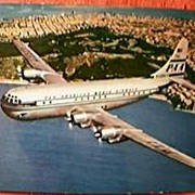 "PAN AM Super ""Strato"" Clipper Postcard Circa 1940's"
