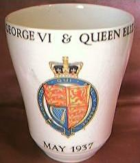1937 King George V1 & Queen Elizabeth Coronation Beaker