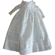 Antique Doll Dress Windowpane Fabric~Lined Bodice