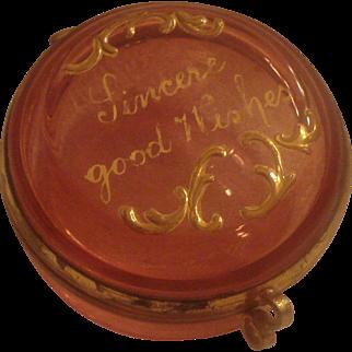 Cranberry Glass Patch Box
