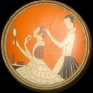 Vintage Three Flowers Hudnut Face Powder Box