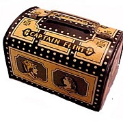 "1950s ""Captain Flint"" Treasure Chest Metal Bank"