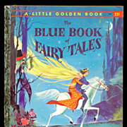 """Blue Book of Fairy Tales"" A Edition Little Golden Book"