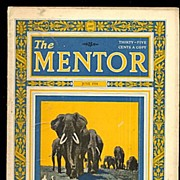 June 1924 'The Mentor' Elephants in Jungle' Magazine