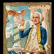 George Washington Patriotic Taking Path 1908 Postcard
