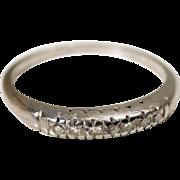 40s Pave Set Diamond Platinum Ring