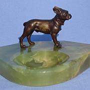 bronze French Bulldog Boston terrier onyx tray