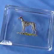 art deco Whippet Italian greyhound Czechoslovakia box