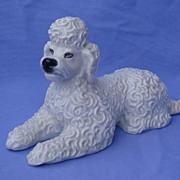 "1930s Rosenthal reclining  poodle 7"" crisp detail"