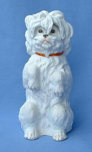 old Heubach Germany bisque Maltese  silky Terrier