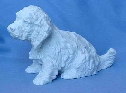 "1950s Sussex Spaniel Setter puppy 7"" Germany"