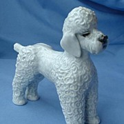 ..Beautiful old 1950s Rosenthal grey Poodle 7""