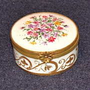 Limoges France Floral Miniature Box