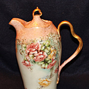 Exquisite Rosenthal Hand Painted Roses Chocolate Pot