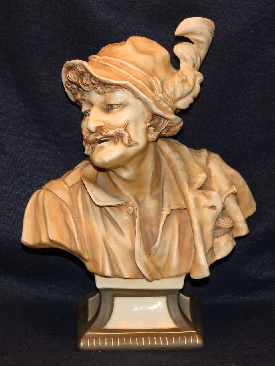 Striking Teplitz Porcelain Bust by Alfred Stellmacher