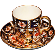 Royal Crown Derby Imari #2451 Demitasse Cup(s) and Saucer(s)