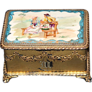 Pairpoint Hand Enameled Jewelry Casket