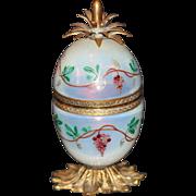 Antique French Opaline Enameled Pineapple Shape Lighter