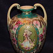 Nippon Art Deco Portrait Vase