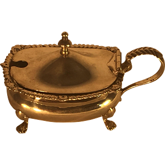 English Sterling Silver Mustard Pot - London 1923