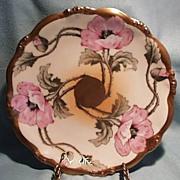 Limoges Elite Plate - Hand Painted - 1900-1914 - Artist Signed.