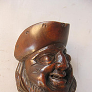 Black Forest Carved Head Screw Type Nutcracker