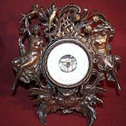Aneroid Desk Barometer -  German Bronze with Ornate Frame  with Original Gilded Elements - c1890
