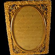 French Gilt and Enamel Brass Frame