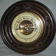 English Mahogany Aneroid Round Barometer